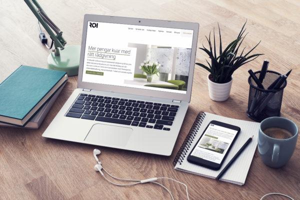 Ny webbplats bild på dator